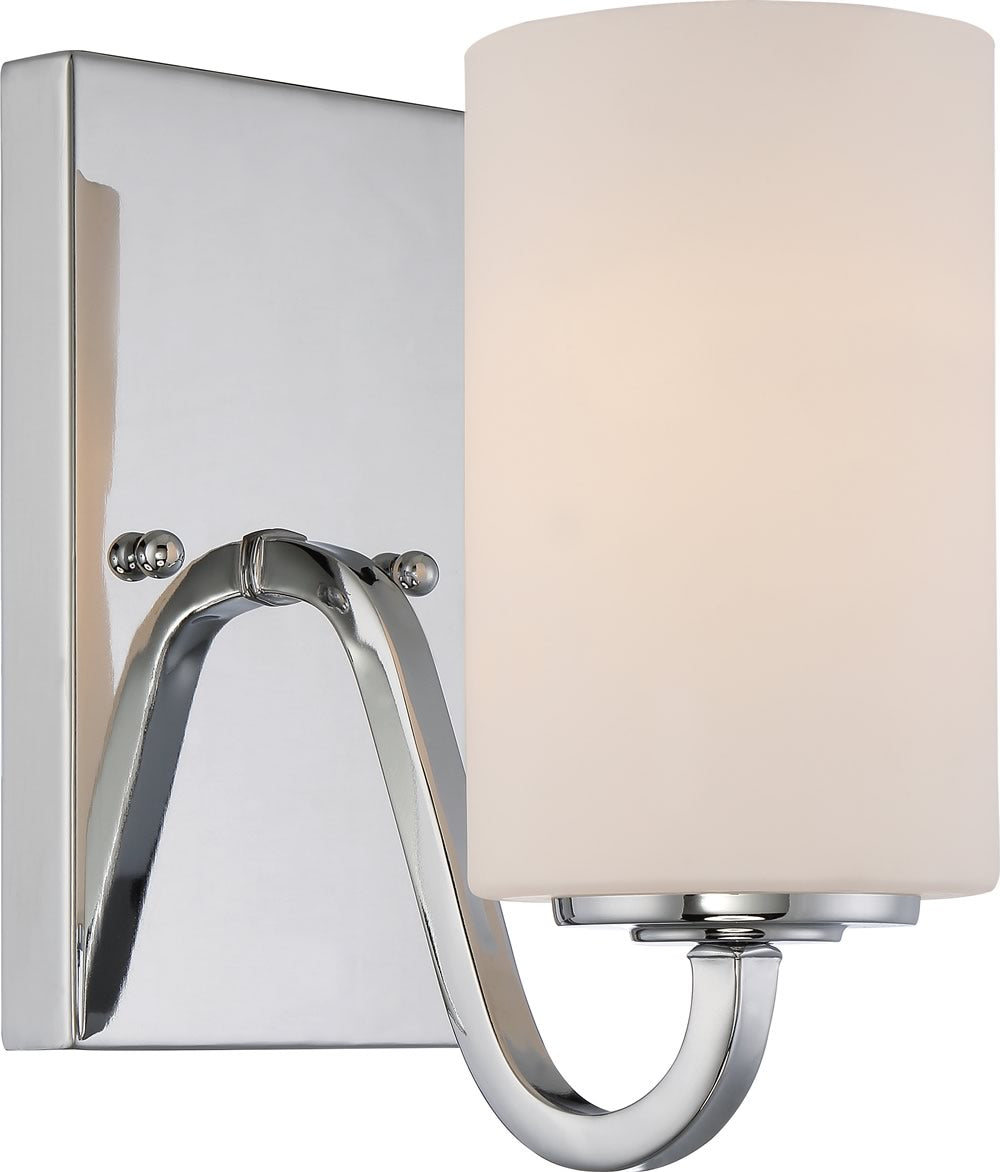 "4""W Willow 1-Light Vanity & Wall Polished Nickel"