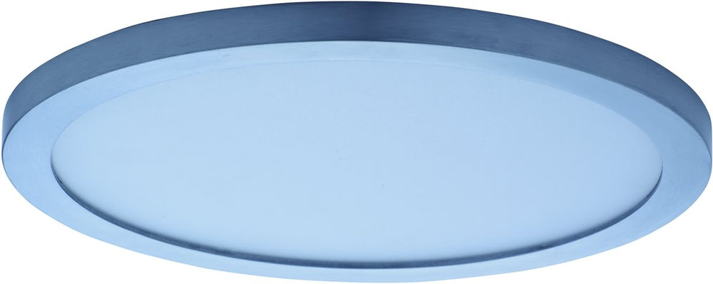 "10""W Wafer LED SLIM Flush Mount Satin Nickel"