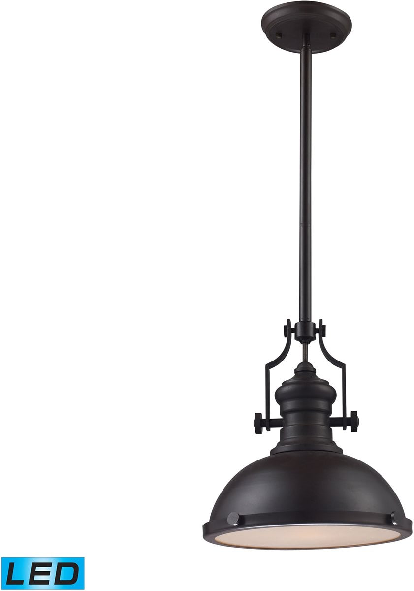 "13""W Chadwick 1-Light LED Pendant Oiled Bronze"