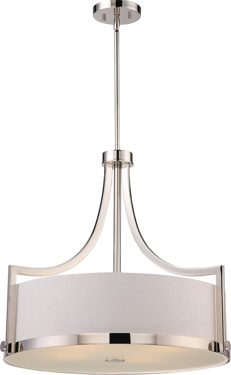 "24""W Meadow 4-Light Pendant Polished Nickel"