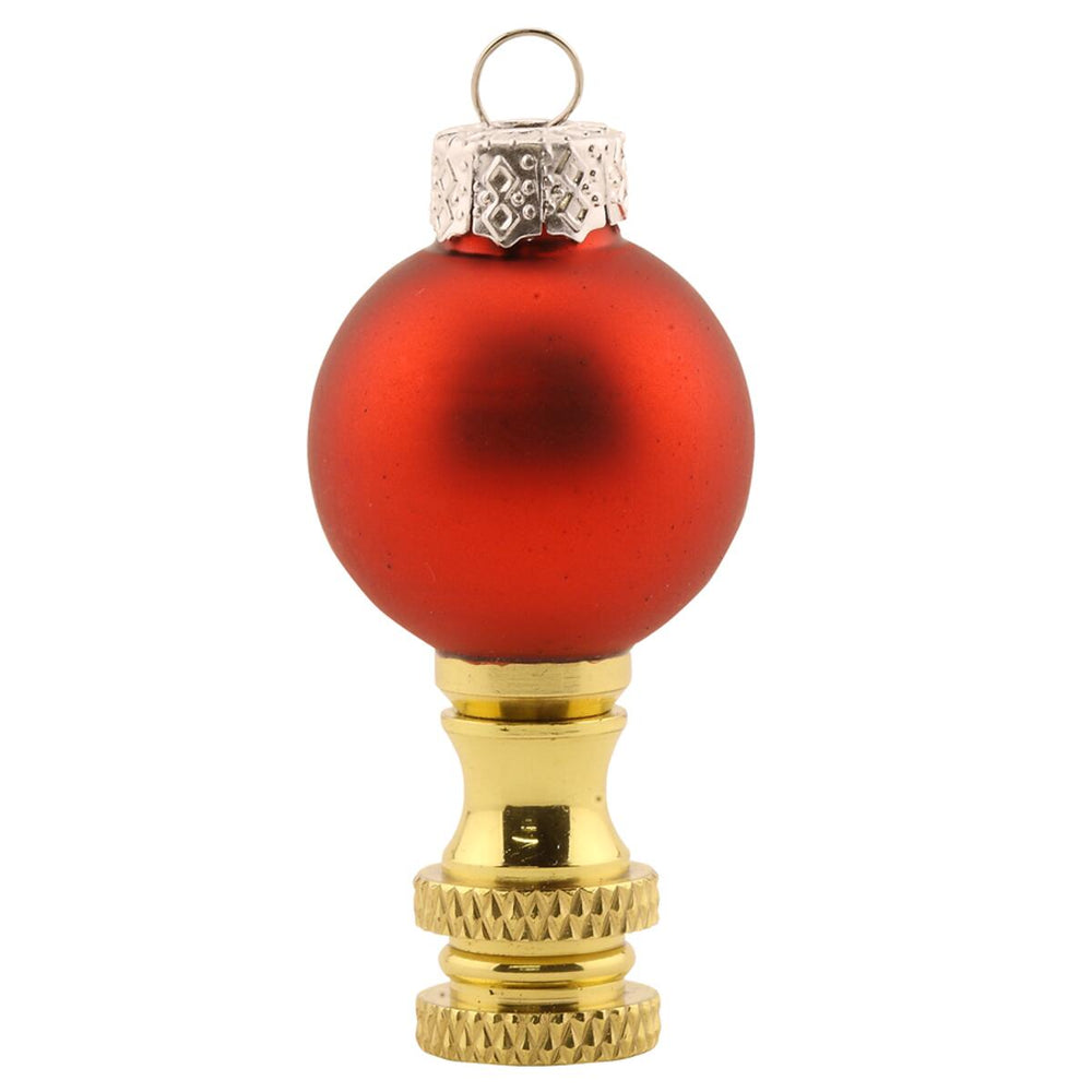 "2""H Red glass Christmas Ornament Finial"