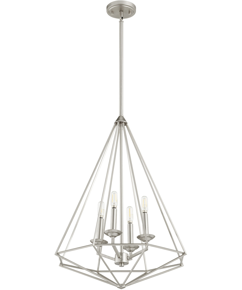"20""W Bennett 4-light Pendant Satin Nickel"