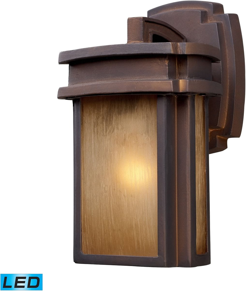 "10""H Sedona 1-Light Outdoor LED Wall Sconce Clay Bronze"