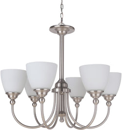 0-008465>Brighton 6-Light Chandelier Brushed Polished Nickel
