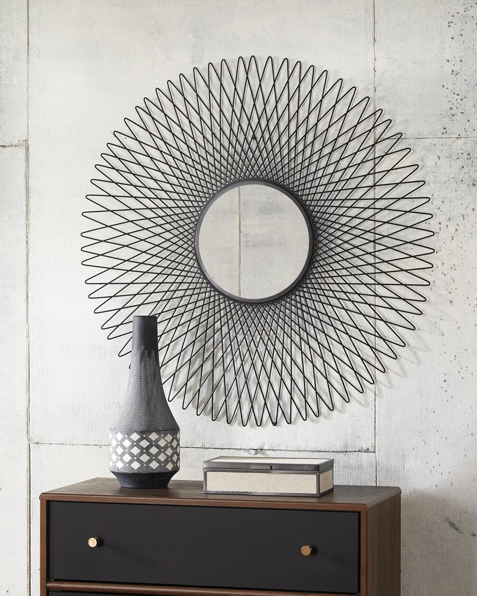 "36""H Dooley Accent Mirror Black"