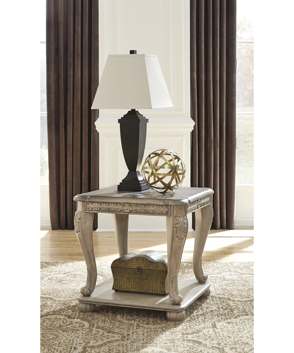 "24""H Kerston Square End Table Light Brown"