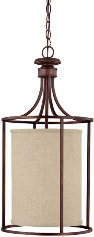 "14""W Midtown 2-Light Foyer Burnished Bronze"
