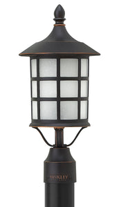 Freeport 1-Light Outdoor Pier Post Light in Olde Penny