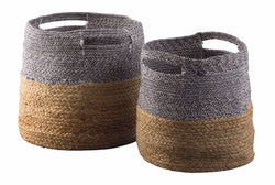 Parrish Basket Set (Set of 2) Natural/Blue