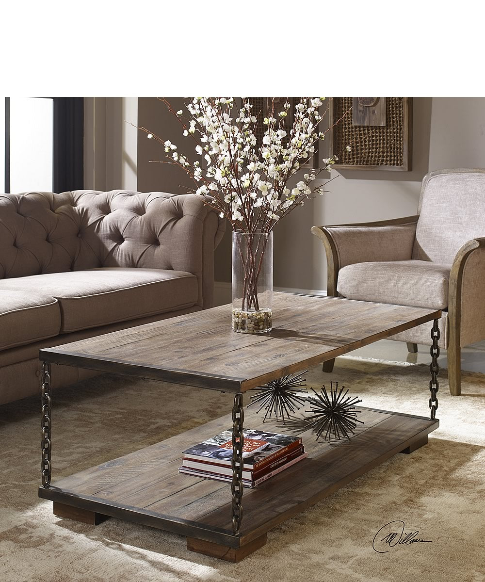 "50""H Jair Chain Link Coffee Table"