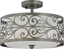 0-014084>Worthington 3-Light Semi Flush Athenian Obol