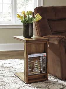 Tamonie Chair Side End Table Medium Brown