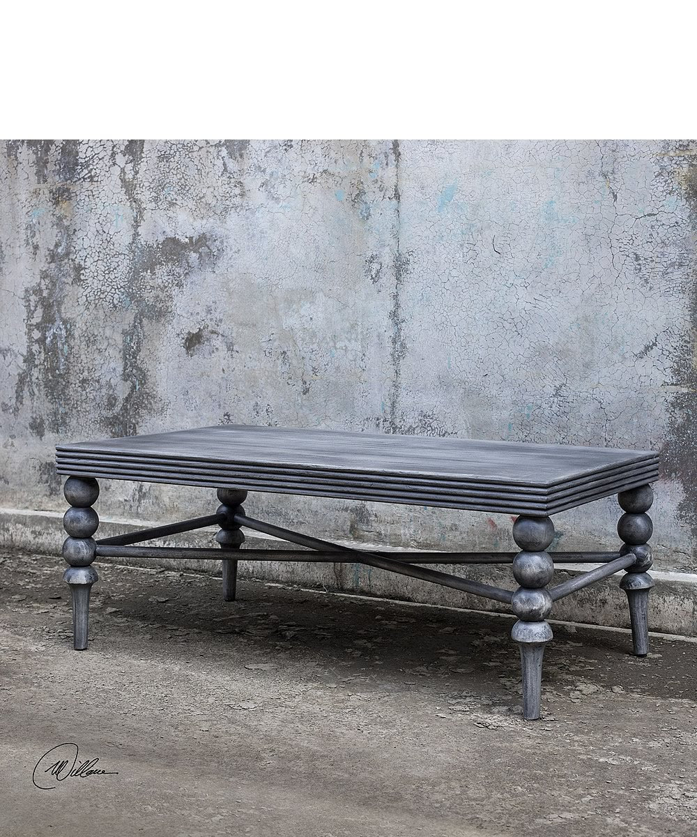 "44""H Kunja Gray Coffee Table"