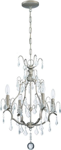 4-Light Mini Chandelier Athenian Obol