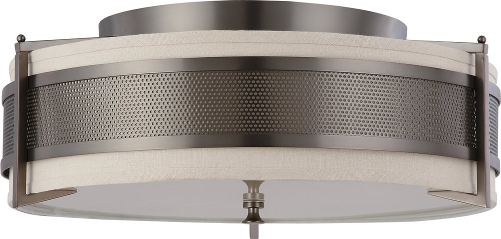 "24""W Diesel 4-Light Close-to-Ceiling Hazel Bronze"