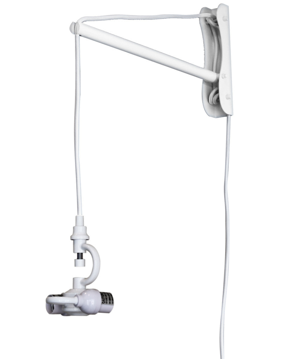 The MAST 2 Light Wall Arm Converts Your Lampshade to a Wall Pendant,  White
