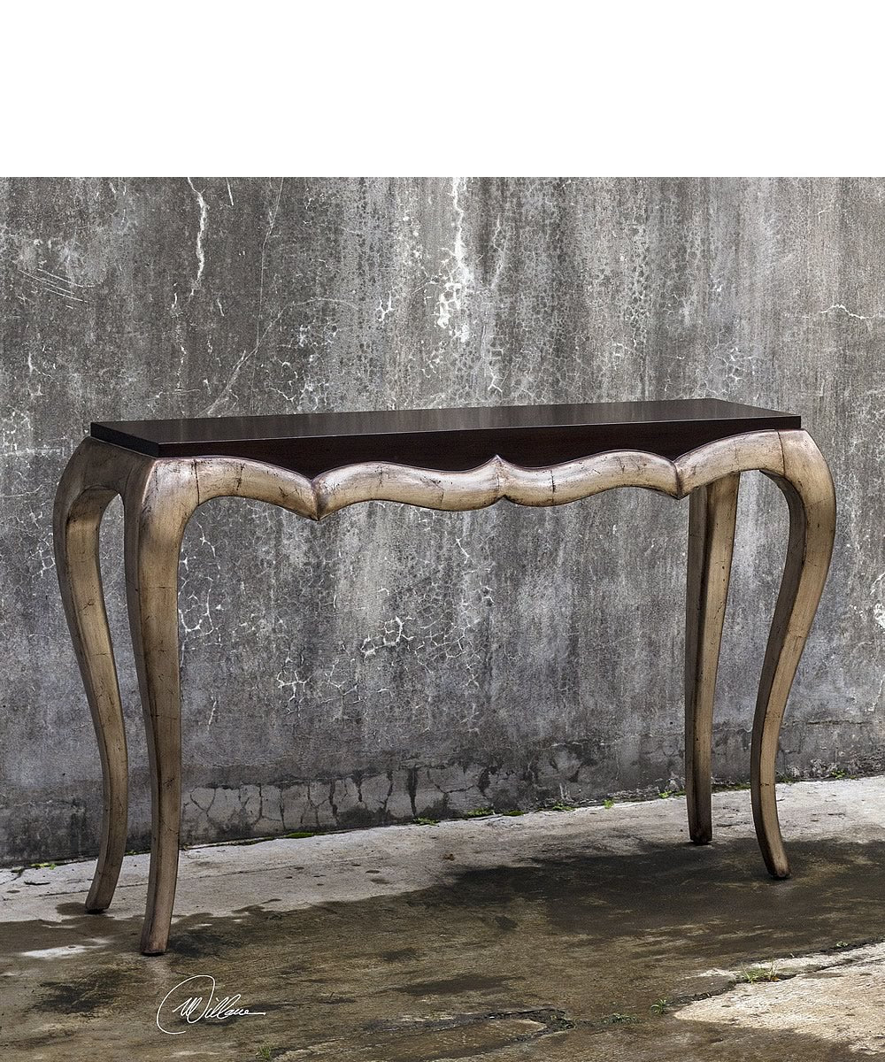 "54""H Verena Champagne Console Table"
