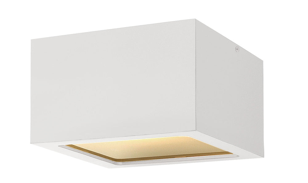 Kube 1-Light Outdoor Flush Mount in Satin White