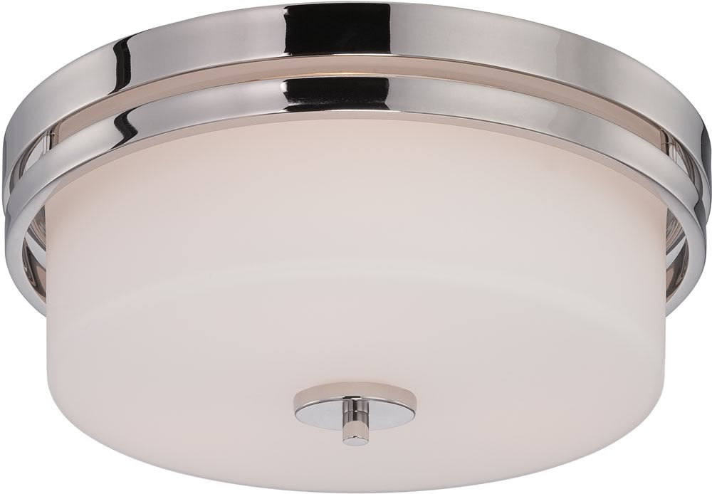 "15""W Parallel 3-Light Close-to-Ceiling Polished Nickel"