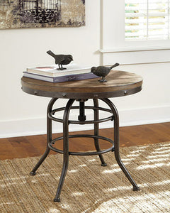 Vennilux Round End Table Grayish Brown