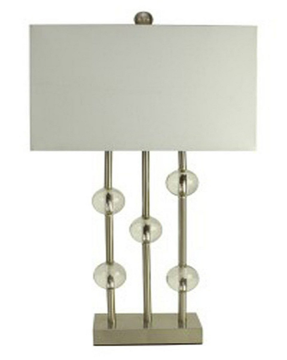 "32""H Jaala Metal Lamp Clear/Silver"
