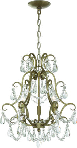 0-010190>3-Light Mini Chandelier Gold Twilight