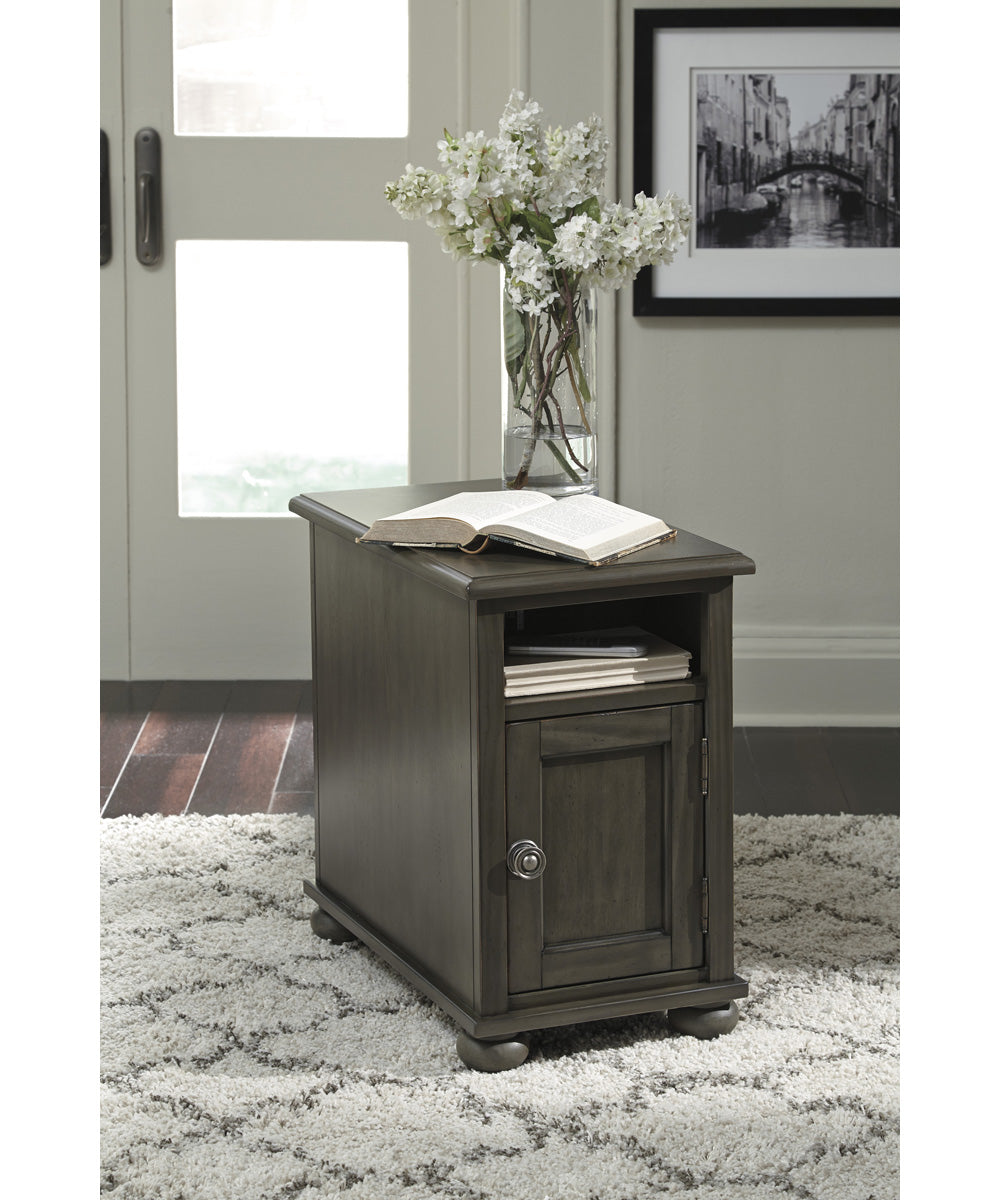 "23""H Devensted Chair Side End Table Dark Gray"