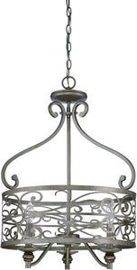 0-007345>Worthington 3-Light Foyer Light Athenian Obol
