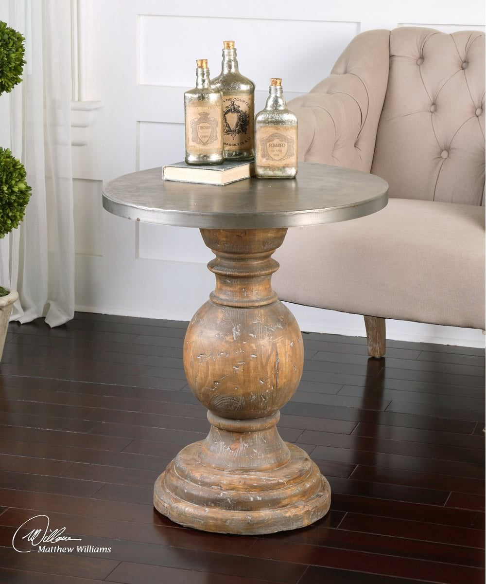 "26""H Blythe Wooden Accent Table"