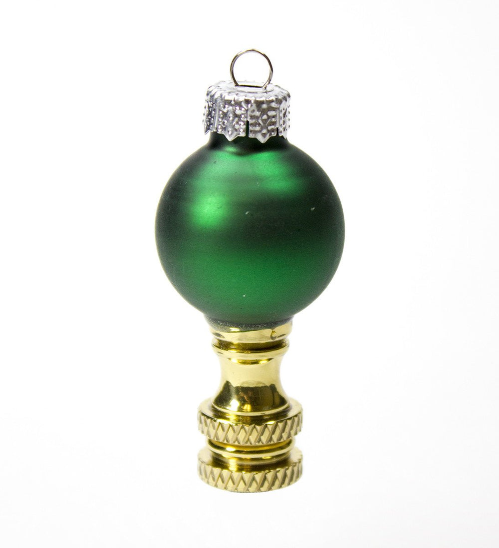 "2""H Green glass Christmas Ornament Finial"