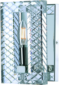 Suave 1-Light Wall Sconce Polished Nickel