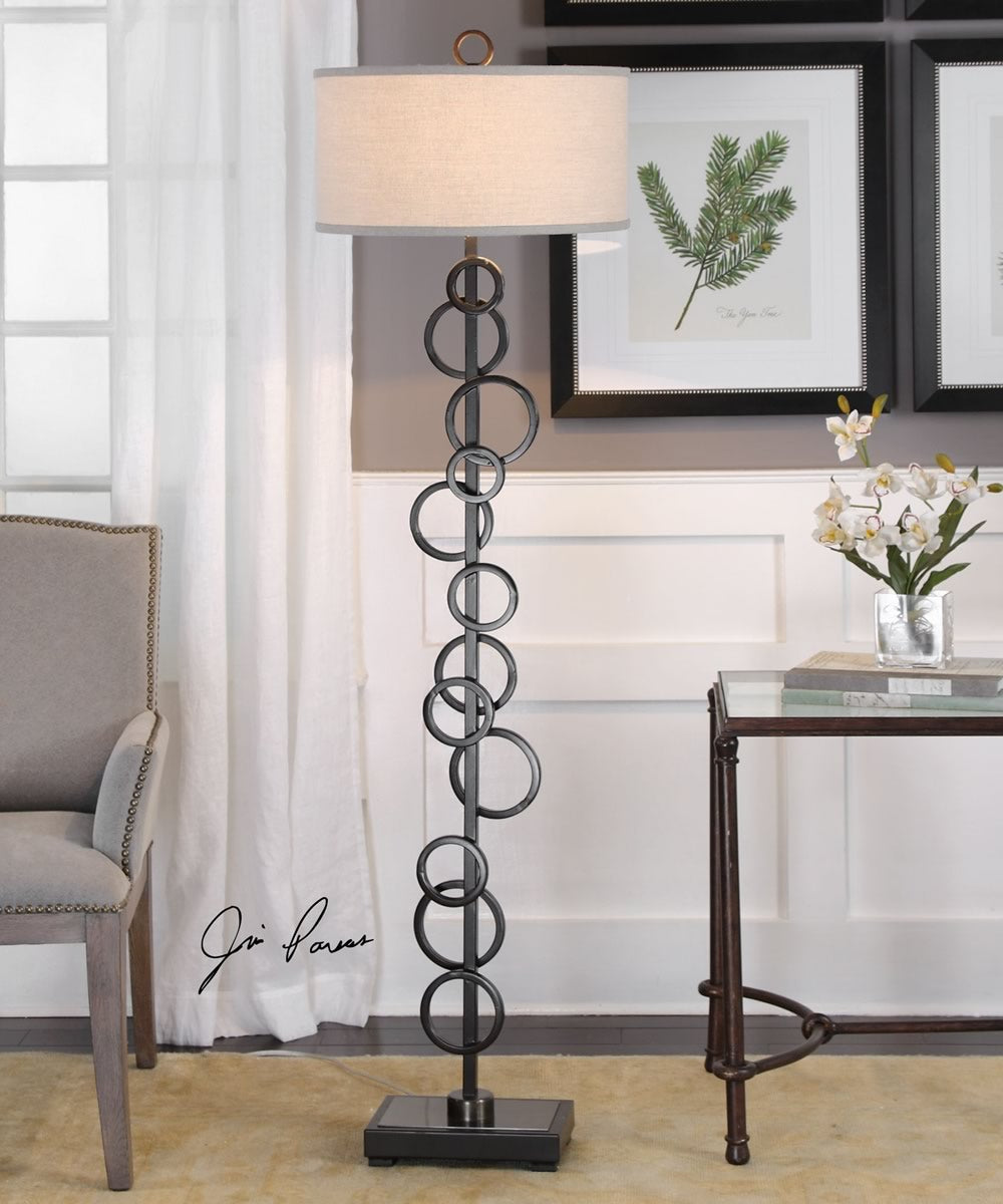 "67""H Anillo Floating Rings Floor Lamp"