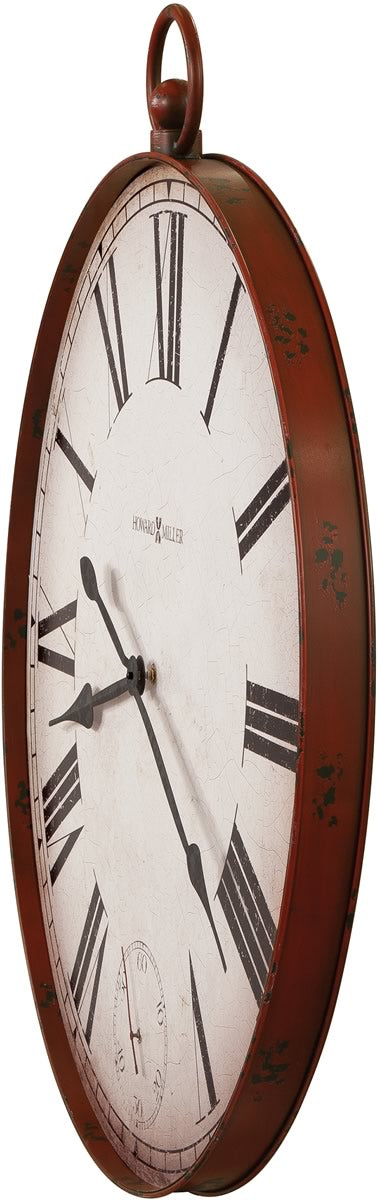 "37""H Gallery Pocket Watch II Wall Clock Aged Red"