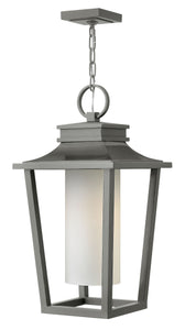 Sullivan 1-Light Outdoor Hanging Light in Hematite
