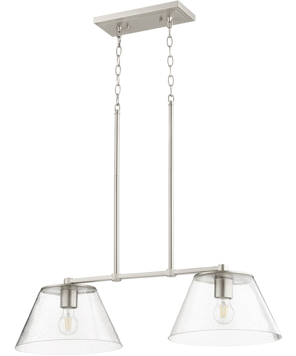 "33""W Dunbar 2-light Kitchen Island Light Satin Nickel"