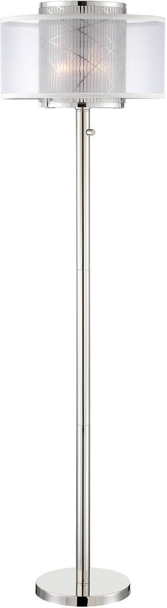 Lacole 1-light Floor Lamp Polished Steel