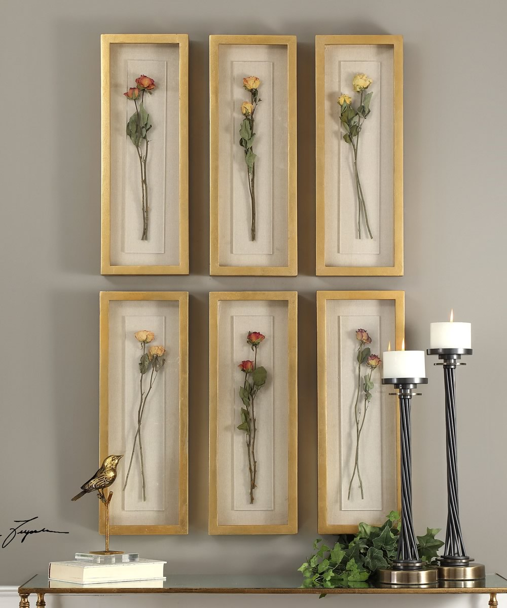 Rosalie Long Stem Shadow Box Set of 6