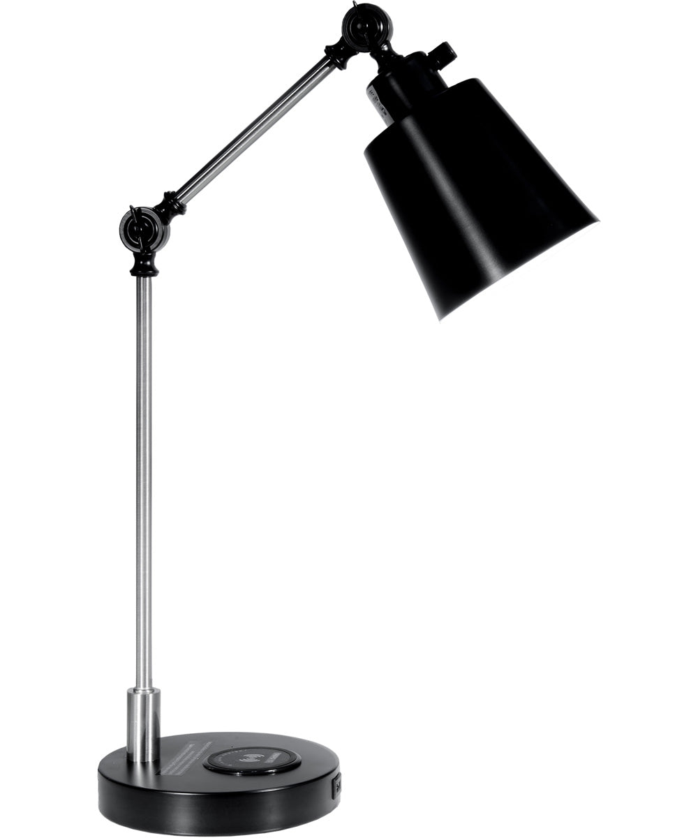 23 Inch H Empire Multi-Direction Desk Lamp With Wireless And Usb Charger