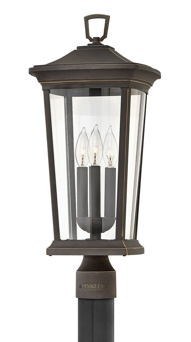 Bromley 3-Light Outdoor Pier Post Light in Oil Rubbed Bronze