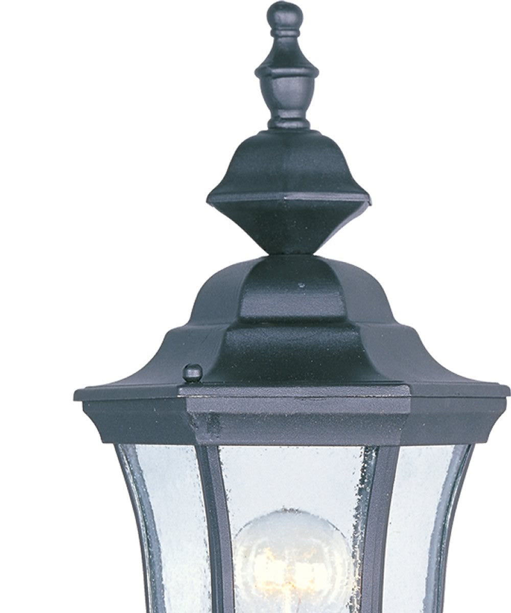"17""H Madrona 1-Light Outdoor Post Mount Black"