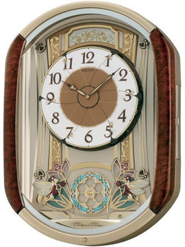 "16""H Melodies in Motion Clock  with 12 Hi-Fi Melodies and Rotating Pendulum"