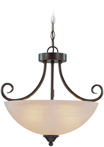 Raleigh 3-Light Semi Flush/Pendant Light Old Bronze