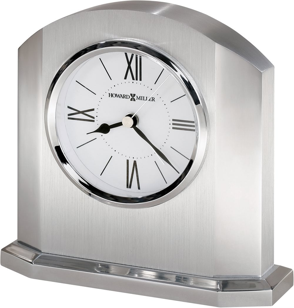 "6""H Lincoln Tabletop Clock Silver"