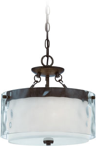 0-006840>Kenswick 3-Light Semi Flush/Pendant Light Peruvian Bronze