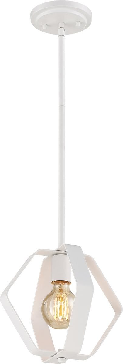 "14""W Zen 1-Light Pendant White"