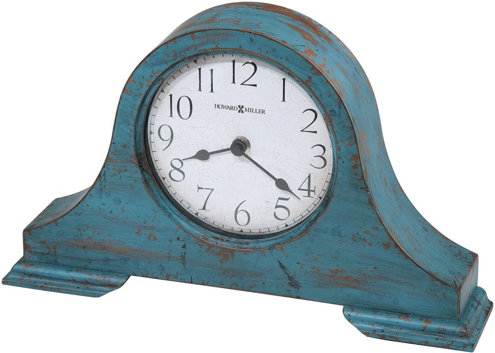 "8.25""h Tamson Mantel Clock Worn Teal Blue"