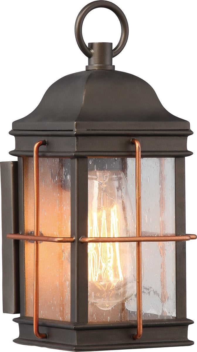"11""H Howell 1-Light Outdoor Bronze / Copper Accents"