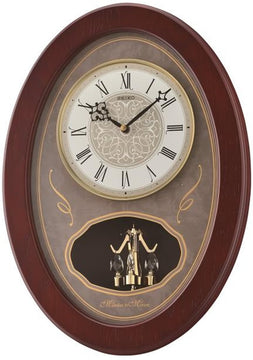 "13""H Melodies in Motion Clock  with 18 Melodies and Rotating Pendulum"