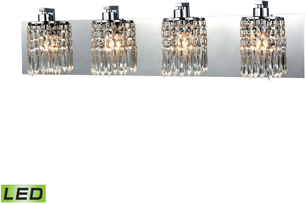 "28""W Optix 4-Light LED Vanity Polished Chrome"