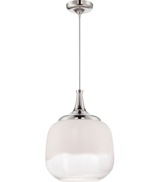 "15""W Stellar 1-Light Pendant Polished Nickel"